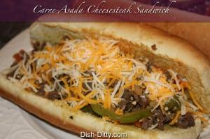 Carne Asada Cheesesteak Sandwich