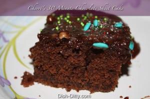 Cherri's 30 minute chocolate sheet cake