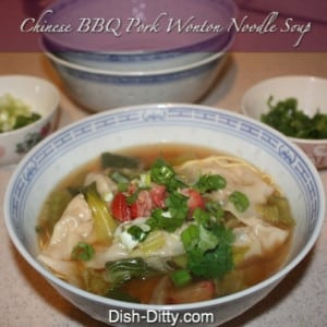 Chinese BBQ Pork Wonton Noodle Soup