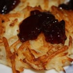Potato Pancakes with Grape Jelly