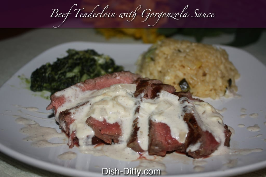 Beef with Gorgonzola Sauce