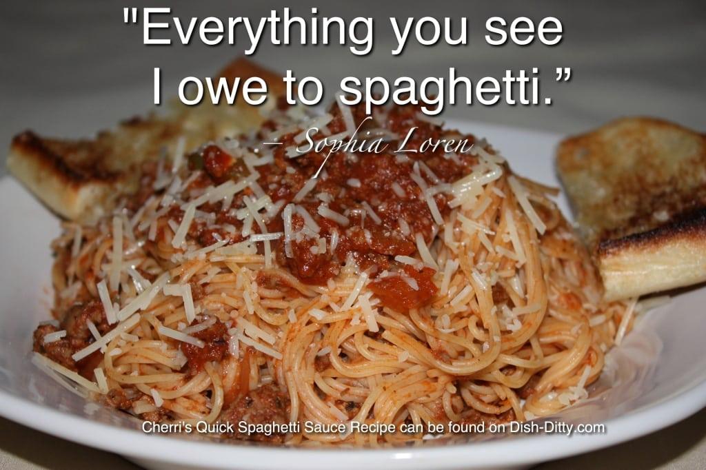 Sophia Loren Spaghetti Quote