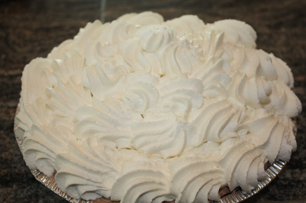 Triple Chocolate Tart With Boozy Whipped Cream Recipe — Dishmaps