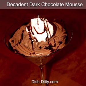 Decadent Dark Chocolate Mousse (no raw eggs)