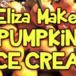 Eliza Makes Pumpkin Ice Cream