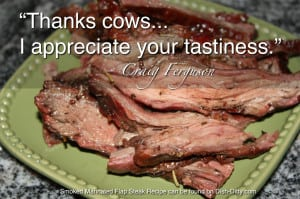 """Thanks Cows... I appreciate your tastiness."" --Craig Furgeson"