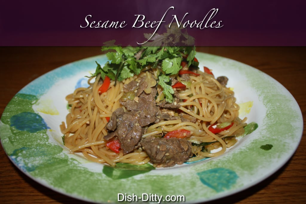 Sesame Garlic Noodles with Beef