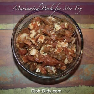 Marinated Pork for Chinese Stir-Fry