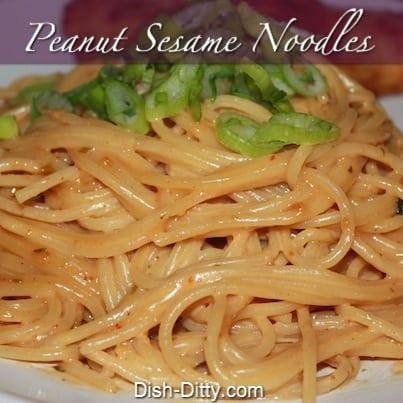 Quick & Easy Peanut Sesame Noodles Recipe – Dish Ditty Recipes