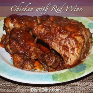 Chicken with Red Wine