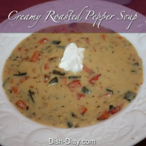 Cream of Roasted Pepper Soup