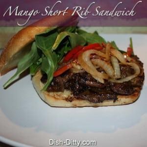 Mango Short Rib Sandwiches