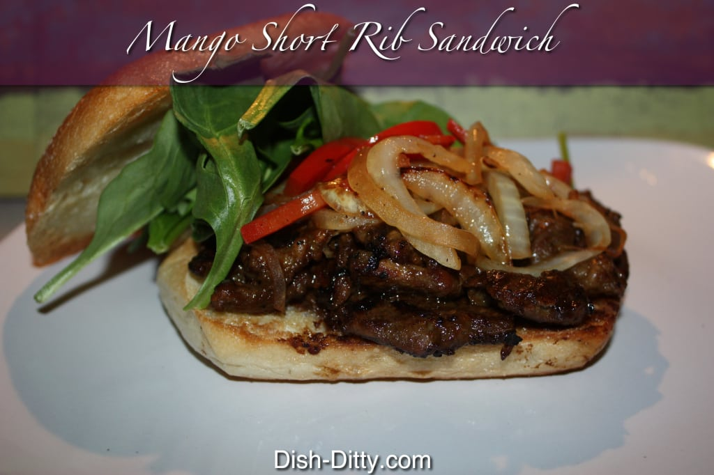 Mango Short Rib Sandwiches by Dish Ditty