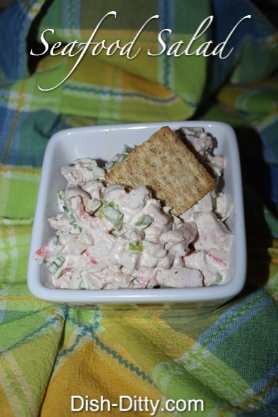 Seafood Salad Recipe by Dish Ditty