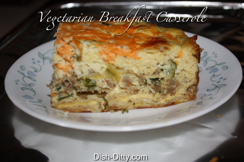 Vegetarian Breakfast Casserole (Dairy Free) by Dish Ditty