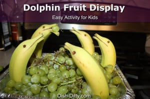 Dolphin Fruit Display by Dish Ditty