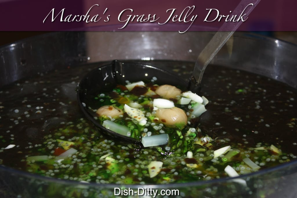 Marsha's Vietnamese Grass Jelly Drink by Dish Ditty