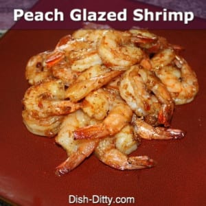 Peach Glazed Shrimp