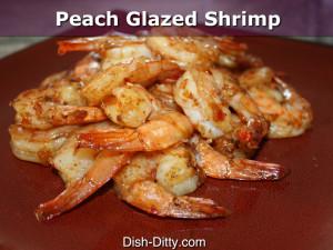 Peach Glazed Shrimp by Dish Ditty