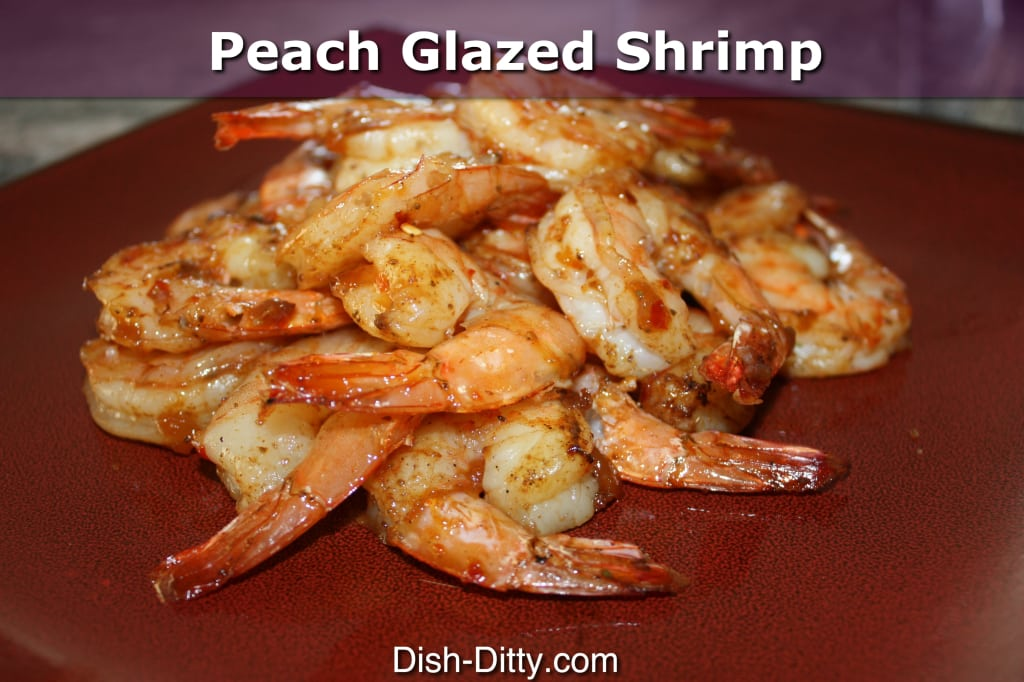 Peach Glazed Shrimp by Dish Ditty