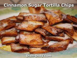 Cinnamon Sugar Tortilla Chips by Dish Ditty