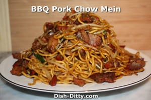 BBQ Pork Chow Mein by Dish Ditty