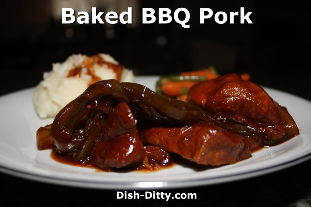 Slow Baked BBQ Pork by Dish Ditty