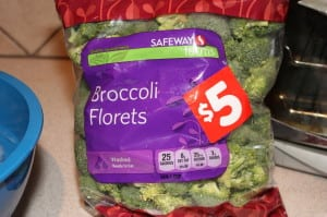 Clean and trim broccoli into florrets