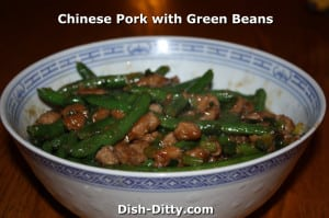 Chinese Pork with Green Beans Recipe