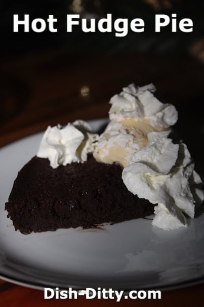 Hot Fudge Pie by Dish Ditty