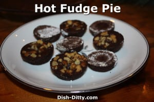 Hot Fudge Pie Tartlets by Dish Ditty