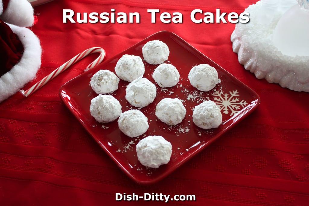 12 Days of Christmas Recipes... Day 1 - Grandma's Russian Tea Cakes Recipe