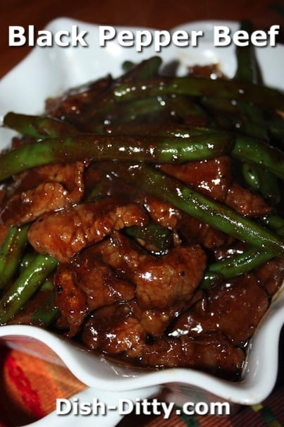 Black Pepper Beef with Green Beans by Dish Ditty Recipes