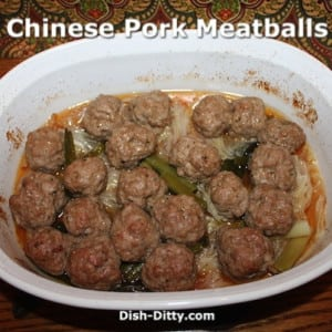 Chinese Pork Meatballs with Cabbage