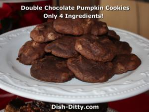 Double Chocolate Pumpkin Brownie Cookies