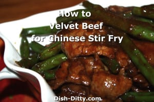 How to Velvet Beef or Chicken for Chinese Stir Fry