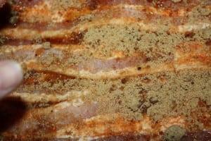 Rub on the brown sugar