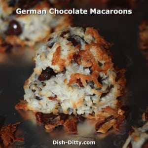 German Chocolate Macaroons