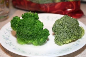 Blanched vs. Raw Broccoli