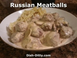 Russian Meatballs by Dish Ditty Recipes