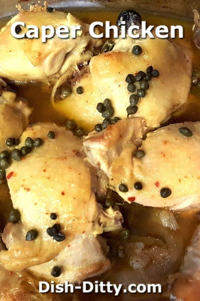 Caper Chicken by Jammin' Judy @Dish Ditty Recipes