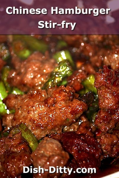 Chinese Hamburger Stir-Fry by Dish Ditty Recipes