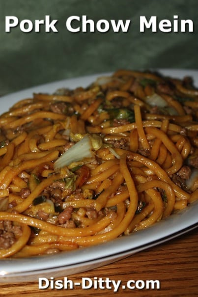 Pork Chow Mein by Dish Ditty Recipes