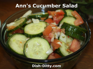 Ann's Cucumber Salad by Dish Ditty Recipes
