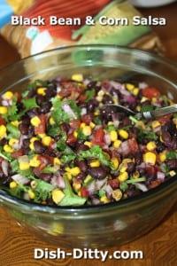 Black Bean & Corn Salsa by Dish Ditty Recipes