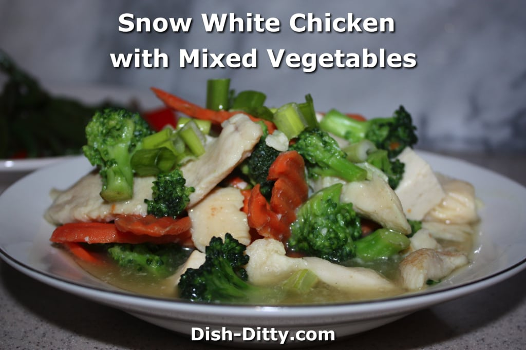 Snow White Chicken with Mixed Vegetables by Dish Ditty Recipes