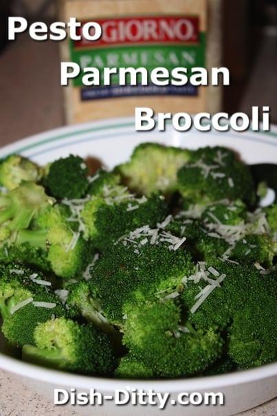 Pesto Parmesan Broccoli by Dish Ditty Recipes