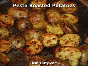 Pesto Roasted Potatoes by Dish Ditty Recipes