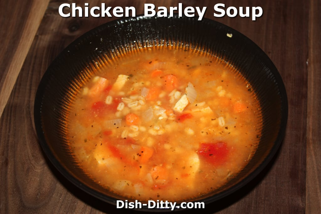 Chicken Barley Soup by Dish Ditty Recipes
