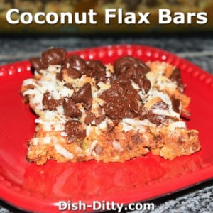 Coconut Flax Bars